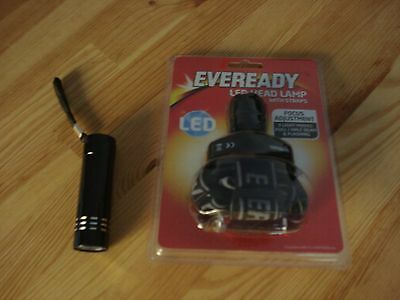 New Eveready Led Headlamp & 9 Led Metal Torch--Night Fishing,camping