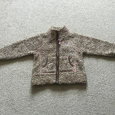 Next Girls Brown Fleece Jacket Age 4 Years