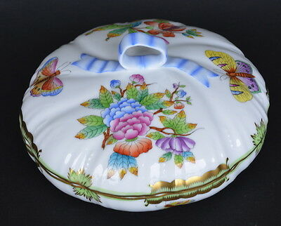 HEREND HUNGARY QUEEN VICTORIA PORCELAIN BONBON CANDY DISH 16.5 cm #6026