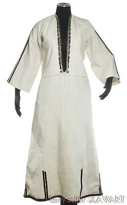 ANTIQUE Macedonian folk costume Tetovo embroidered chemise linen dress blouse