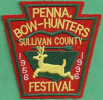 Pa Pennsylvania Fish Game Commission 1996 Sullivan Co Bowhunters Festival Patch