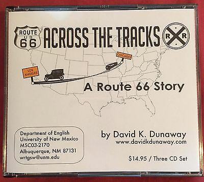 Route 66 Across the Tracks 3-CD Set History by David Dunaway Excellent Condition