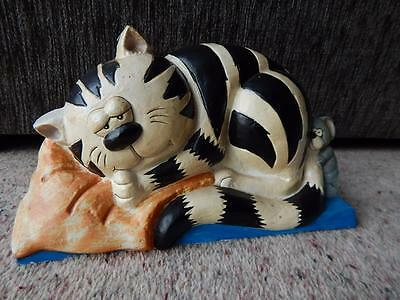 Retro Vintage Garfield Cat Mouse Hand Painted Cast Iron Door Stop Woolworths