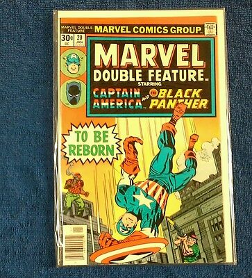 Marvel Double Feature # 20  Captain America and the Black Panther