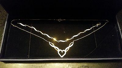 9ct Gold and Diamond Necklace and Bracelet Set - Brand New