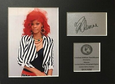 Rihanna Signed Autograph Display Mount