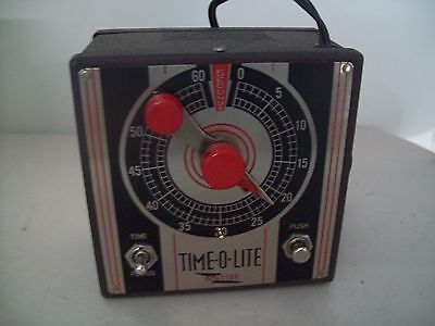 Vintage Time-O-Lite Master Model M-49 Industrial Timer