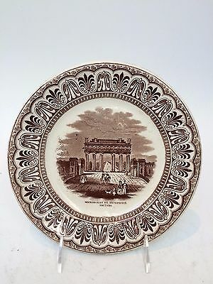 Antique Pottery / Porcelain Plate by Etruria with Russian Transfer Print Scene