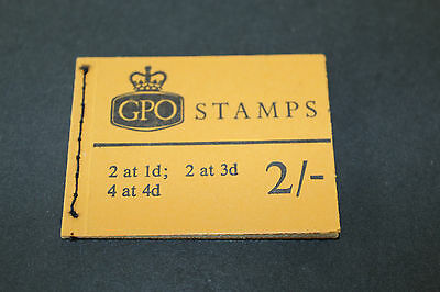 GB GPO 1968 2 at 1d,2 at 3d,4 at 4d STITCHED STAMP BOOKLET (2)