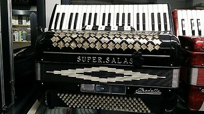 Super Salas Stradella accordion fisarmonica vintage perfettecondizioni accordeon