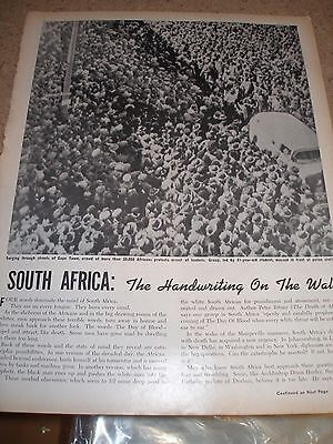 """1960 Ebony Article  """"South Africa: The Handwriting On the Wall"""" The Day of Blood"""