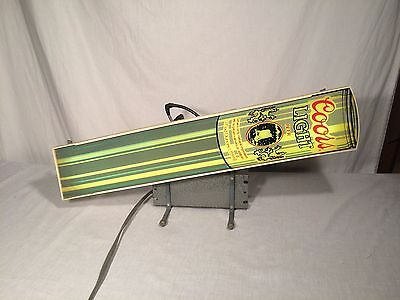 Vintage Coors Light Silver Bullet Neon Bar Sign Advertisement