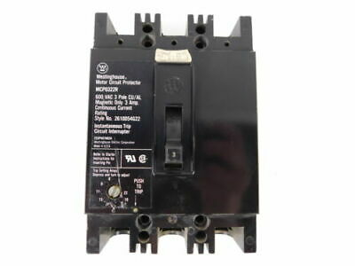 Westinghouse 3-Pole, 3 Amp, 600V Motor Circuit Protector MCP0322R