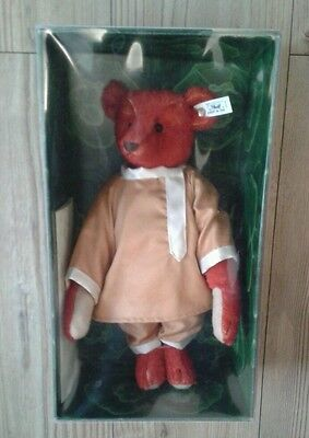 """Steiff Alfonzo Limited Edition Bear 13"""" Red Stunning 1908 w/Certificate ~ Gift"""