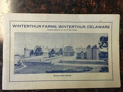 Antique booklet from Winterthur Farms in Winterthur, Delaware from early 1920's