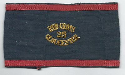 Red Cross Armband Cloth Badge Gloucestershire