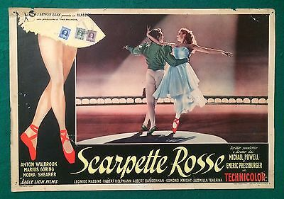 Fotobusta Originale Scarpette Rosse The Red Shoes Pressburger 1 ° Ed. 1949 Rara