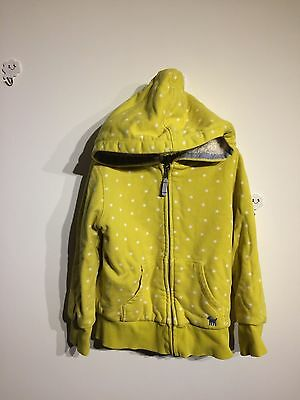 Mini Boden Girls Shaggy Lined Zip Through  6-7 yrs 5-6 yrs yellow