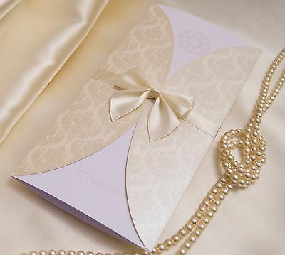 10xPersonalised Handmade Wedding Day Evening Invitations with Free Envelopes