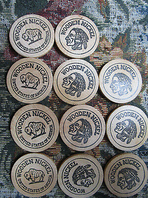 11 Wooden Nickels, Corry Coin Club, Lake Shore Coin Club, 1976 Bicentennial lot