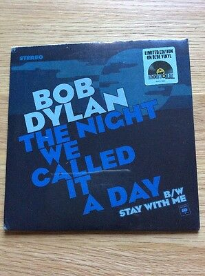 """Bob Dylan The night we called it a day7"""" Blue Vinyl Ltd Ed Record Store Day 2015"""