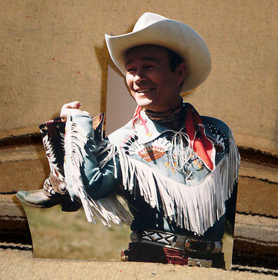 """Roy Rogers """"King of the Cowboys"""" W-Boots Western Tabletop Display Standee 10"""" T"""
