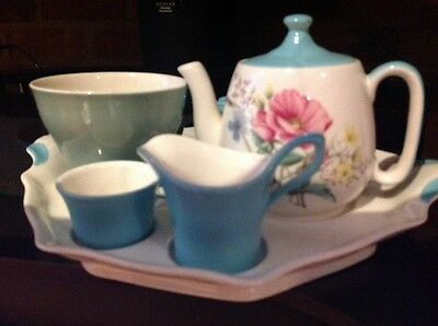 Royal Winton Breakfast set, teapot jug,bowl,cup,toast rack, crazed, Replacements