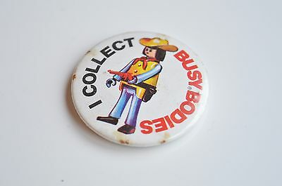 Vintage I Collect Busy Bodies Badge
