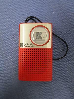 Small Red Vintage ReTRo NATIONAL PANASONIC AM Radio Model R1018 Working