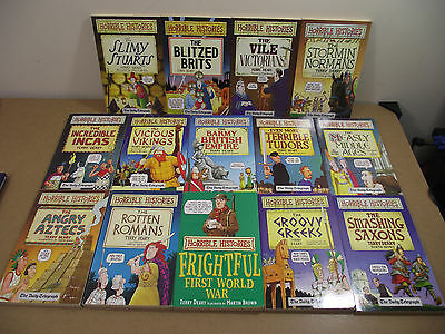 Horrible Histories by Terry Deary Collection / Bundle 14 Books - Free UK P&P