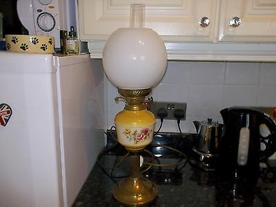 OIL Lamp with  Glass Dome and Glass Chimney ELECTRIC