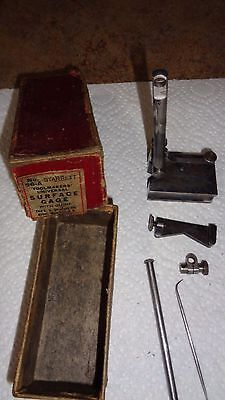 Vintage Starrett 56A Universal Surface Gage With Scribe & Guide