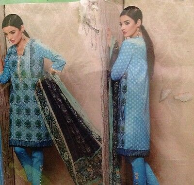 ORIGINAL KHAADI 3PC BNWT SUIT Embroidered COTTON TAILOR STITCHED  Floral Print