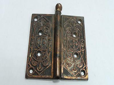 Antique Vintage Ornate Door Hinge Copper With Very Unique Designs