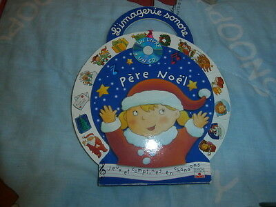 LIVRE IMAGERIE SONORE AVEC CD  PERE NOEL BE paypal possible
