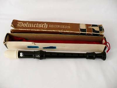 Vintage Dolmetsch Descant Recorder With original Box & Carry Bag