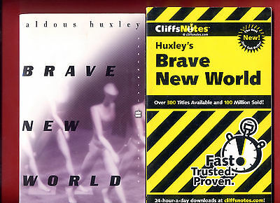 Brave New World by Aldous Huxley + Cliffs Notes Study Guide -Free Shipping!