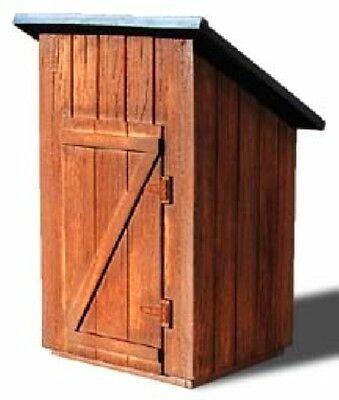 S SCALE or Sn3 WISEMAN MODEL SERVICES S-1020 WOOD OUTHOUSE STRUCTURE KIT