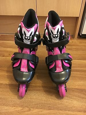 Girls No Fear Inline Skates Size 1-4 Very Good Condition