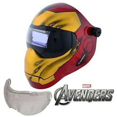 New Save Phace EFP-I Series Welding Helmet Marvel Iron Man 180 4/9-13 ADF Lens