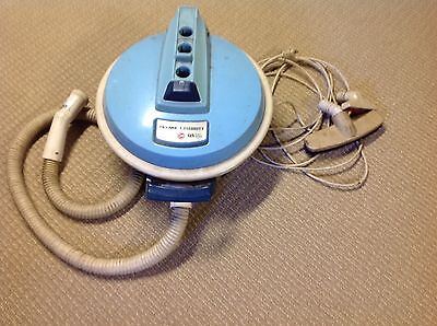 Hoover Celebrity QS Canister Vacuum Cleaner w/ Hose S3185 Aqua Blue Works Well