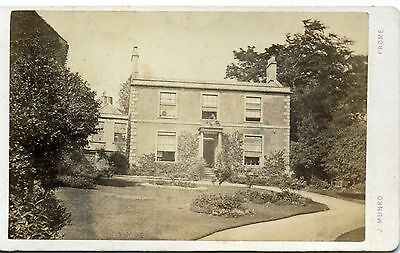 Unidentified House at FROME, Somerset Carte de Visite
