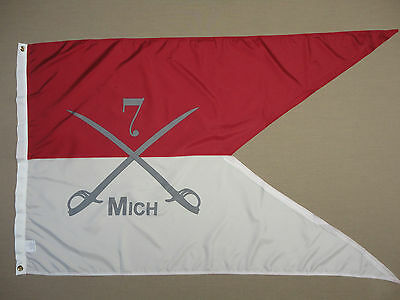 7th Michigan Cavalry Guidon Historical Indoor Outdoor Dyed Nylon Flag 3' X 5'