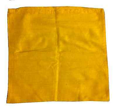 Vintage Yellow Silk Pillow Cushion Cover Made In Norway
