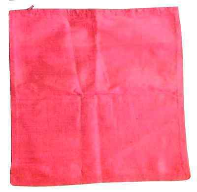 Vintage Pink Silk Pillow Cushion Cover Made In Norway