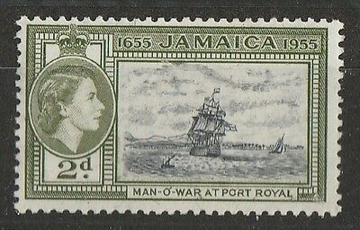 1955 JAMAICA 2d DEFINITIVE SG 155 L/M/MINT
