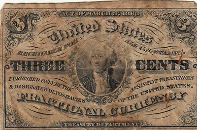 US CIVIL WAR Currency 1863