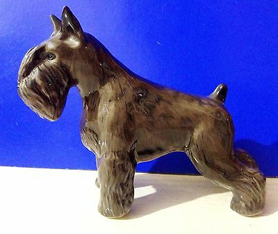Schnauzer figurine Dog  porcelain realistic Souvenirs from Russia high quality