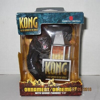 King Kong 8th Wonder Of The World Ornament American Greetings Works Sound