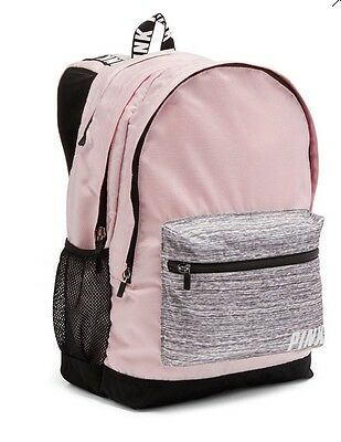 Victorias Secret PINK CAMPUS BACKPACK LIGHT PINK /GRAY MARL -NEW FOR 2016 - NWT